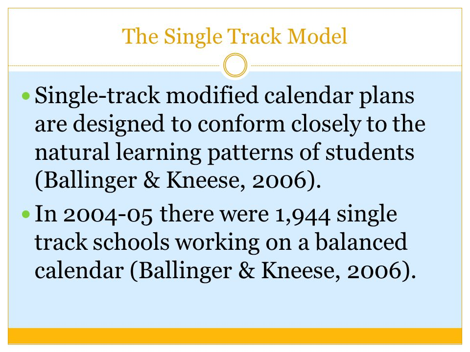 The Single Track Model