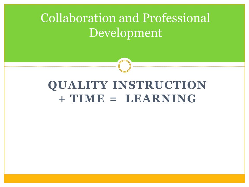 Collaboration and Professional Development