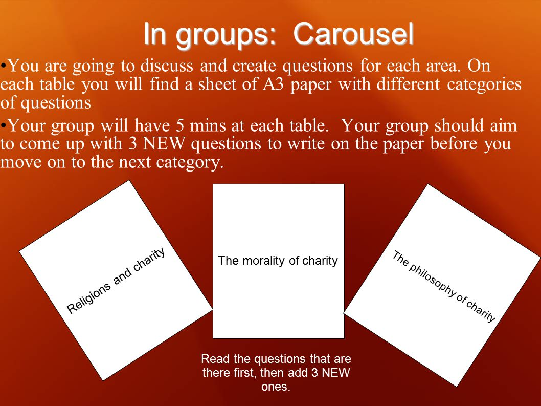 In groups: Carousel