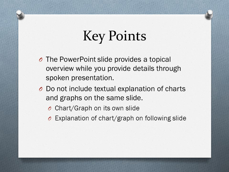 key points of presentation