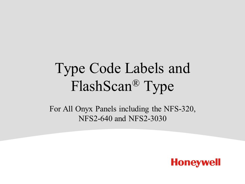 Type Code Labels And FlashScan Type