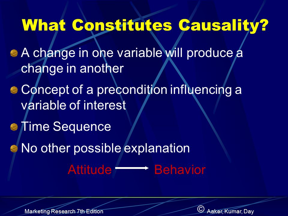What Constitutes Causality