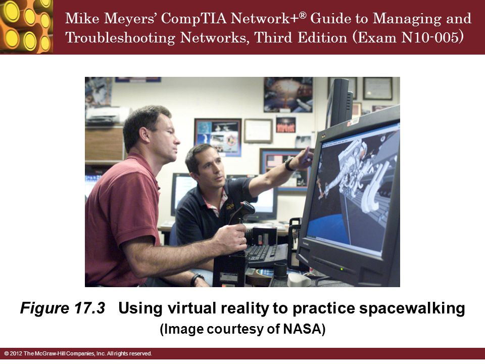 Figure 17.3 Using virtual reality to practice spacewalking