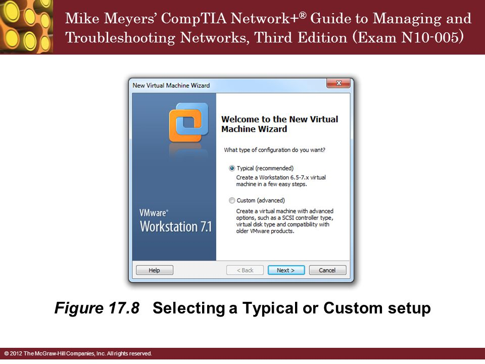 Figure 17.8 Selecting a Typical or Custom setup