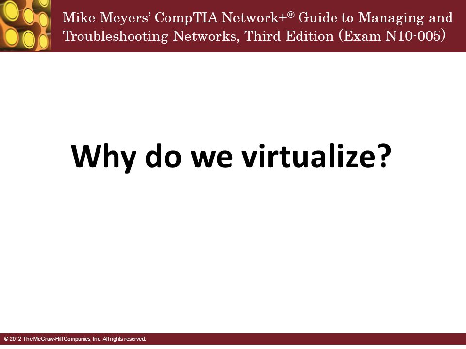 Why do we virtualize