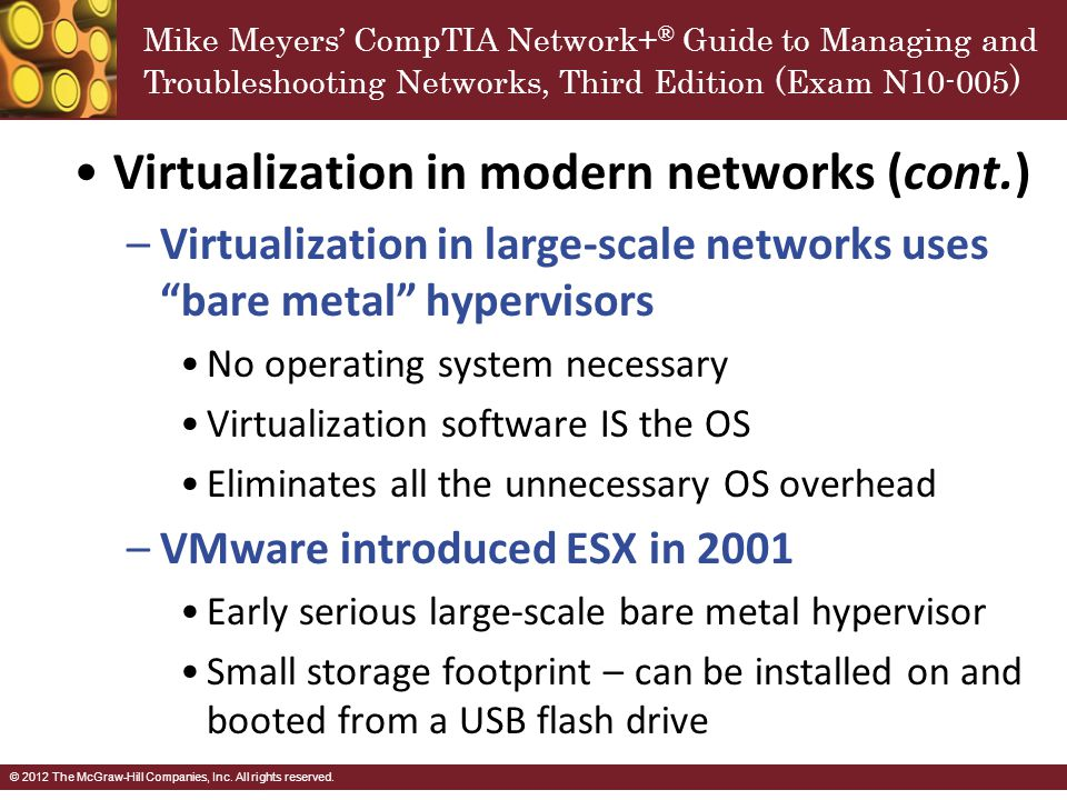 Virtualization in modern networks (cont.)