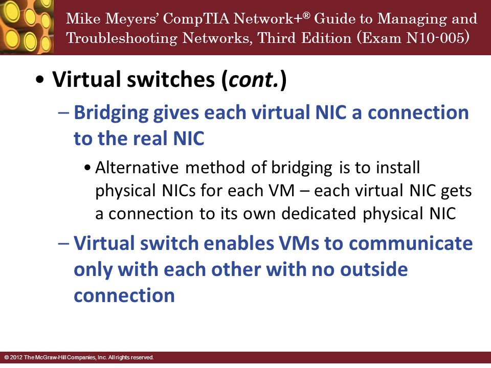 Virtual switches (cont.)