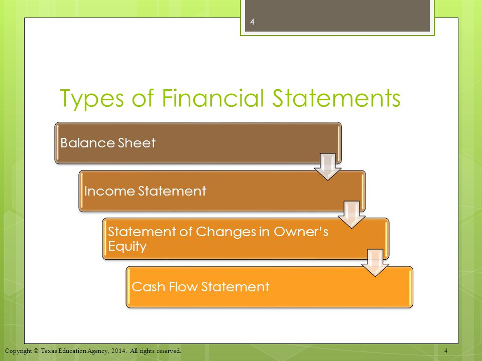 The Purpose Of Financial Statements  Ppt Download