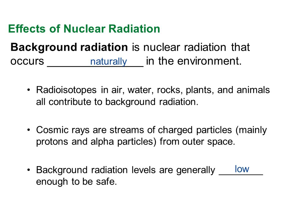 When controlled, nuclear energy has many practical uses ...