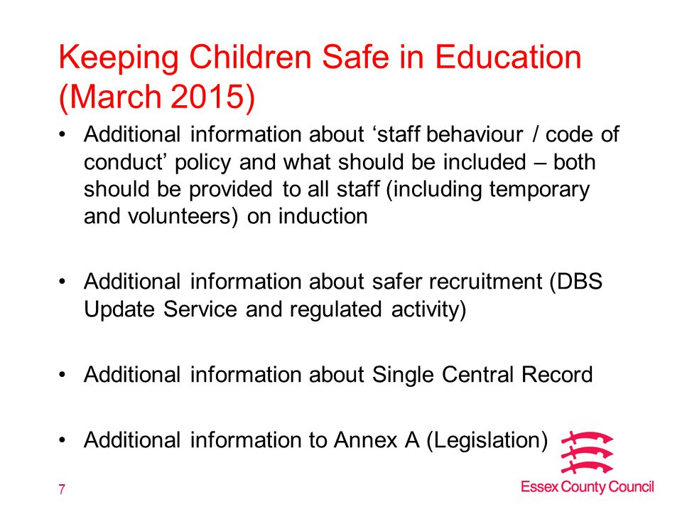 Keeping Children Safe in Education (March 2015)