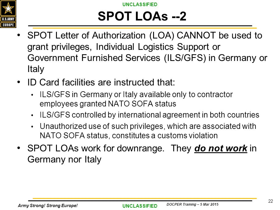 Welcome 2015 COR Training SA Overview Germany ppt  : SPOTLOAs 2 from slideplayer.com size 960 x 720 jpeg 116kB
