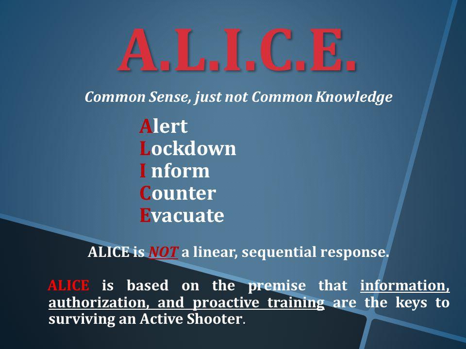 Active Shooter Training - A.L.I.C.E. Training