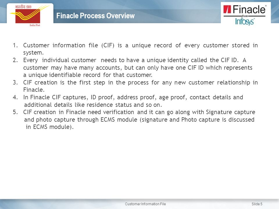 Finacle Process Overview