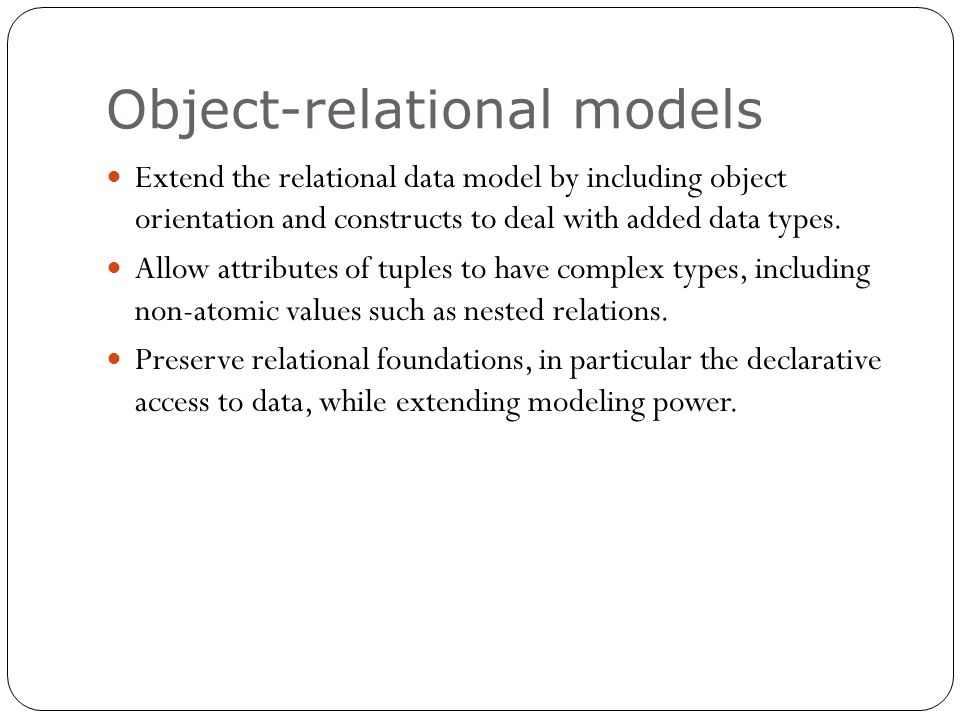 a case study of the differences between relational and object oriented database systems Oriented model and the relational model, many factors should be considered   object-oriented databases have been developed in response to  a review of the  security elements common to all database systems  effective management of a  distributed system, because, in many cases, no single dbms.