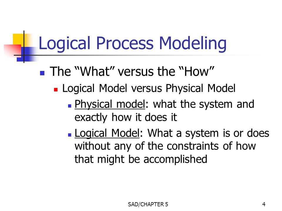modeling the processes and logic