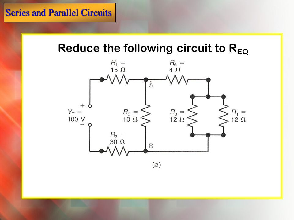 Reduce the following circuit to REQ