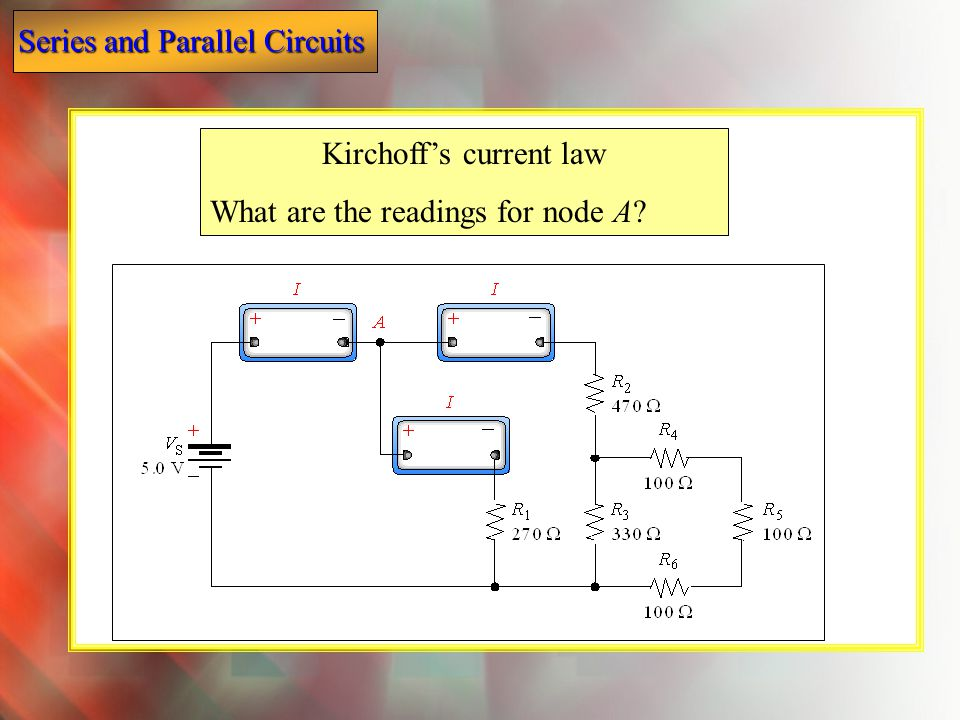 Kirchoff's current law