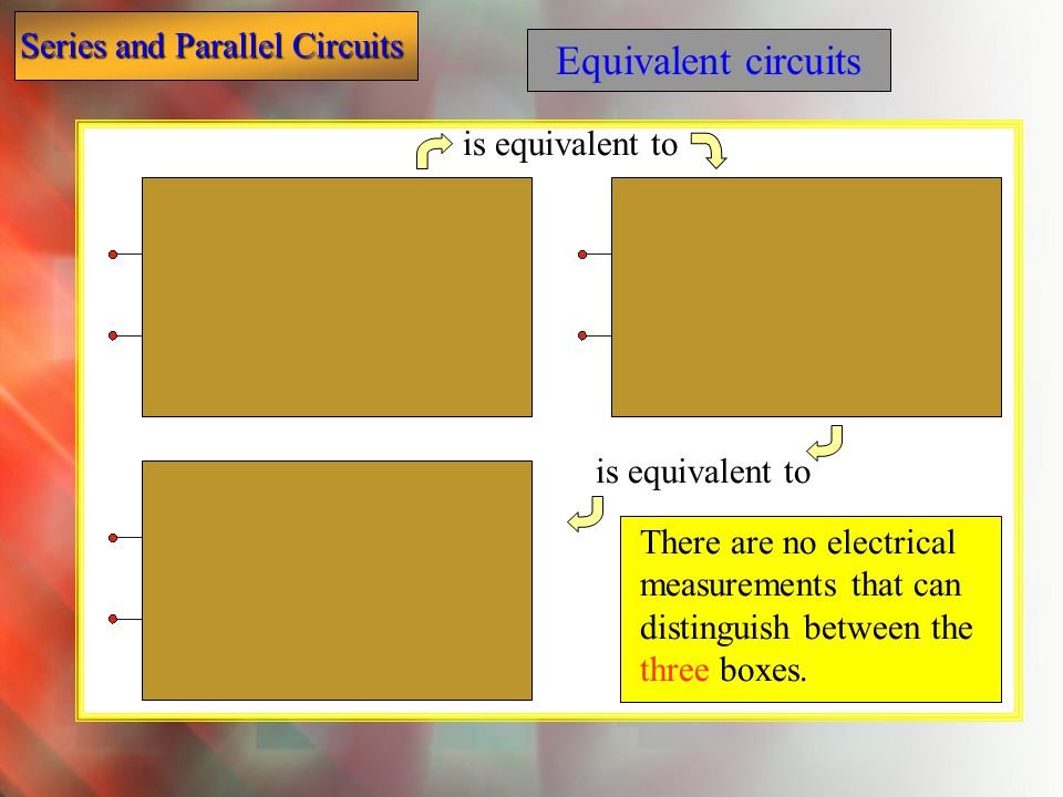Equivalent circuits is equivalent to is equivalent to