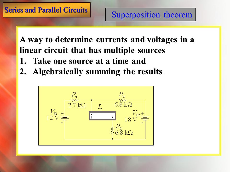 Superposition theorem