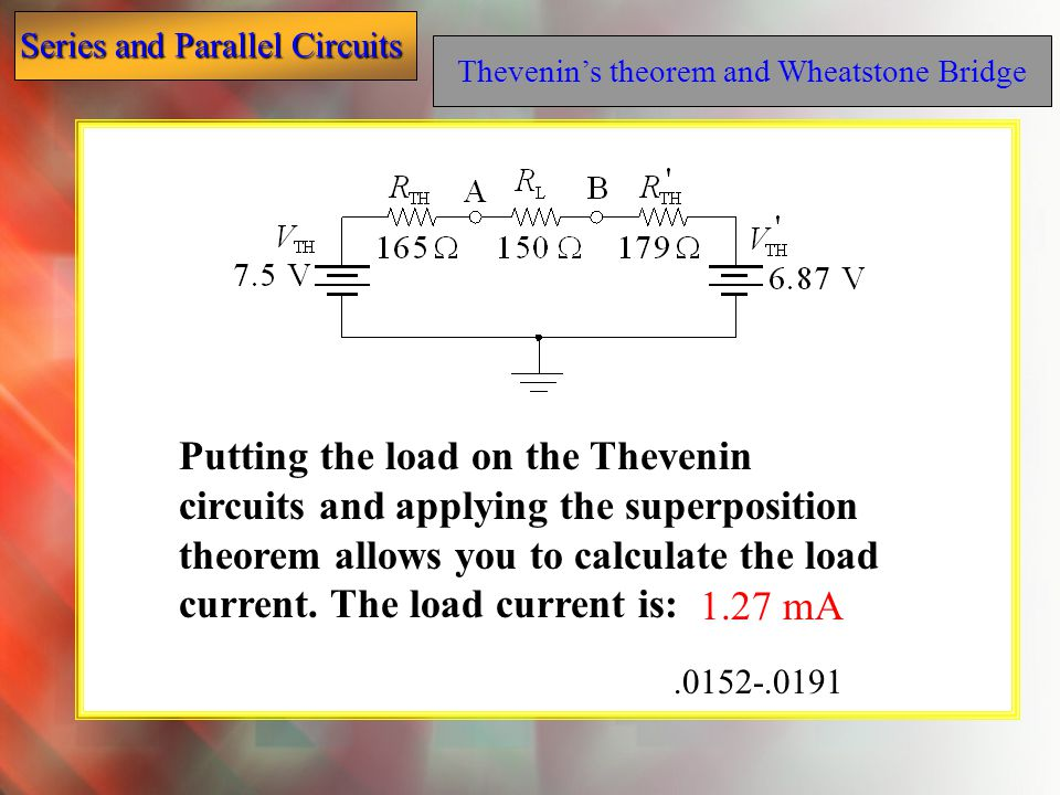Thevenin's theorem and Wheatstone Bridge
