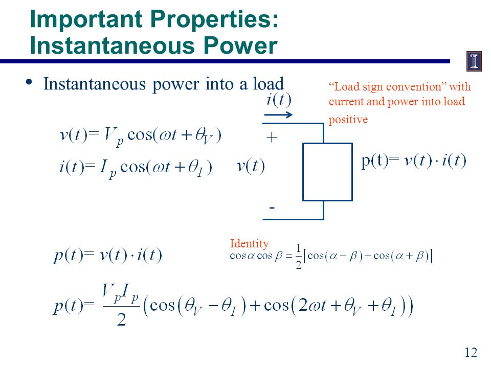 Important Properties: Average Power