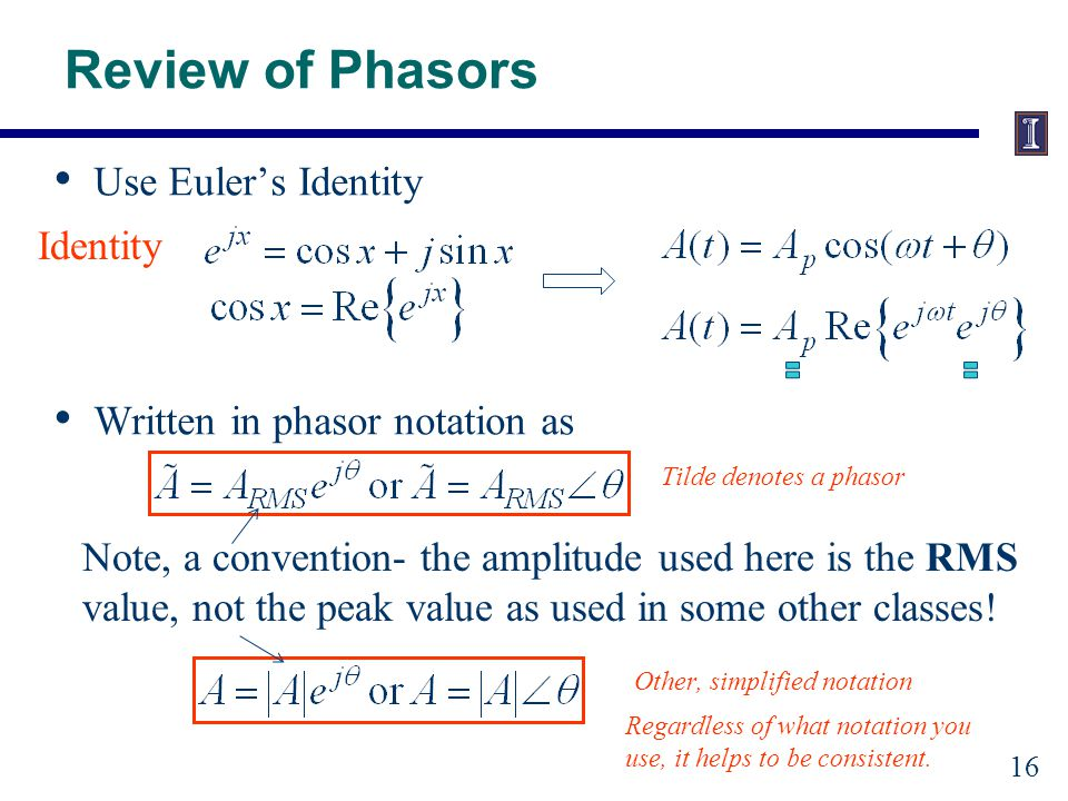 Why Phasors Simplifies calculations
