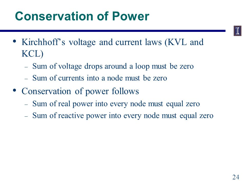 Conservation of Power Example