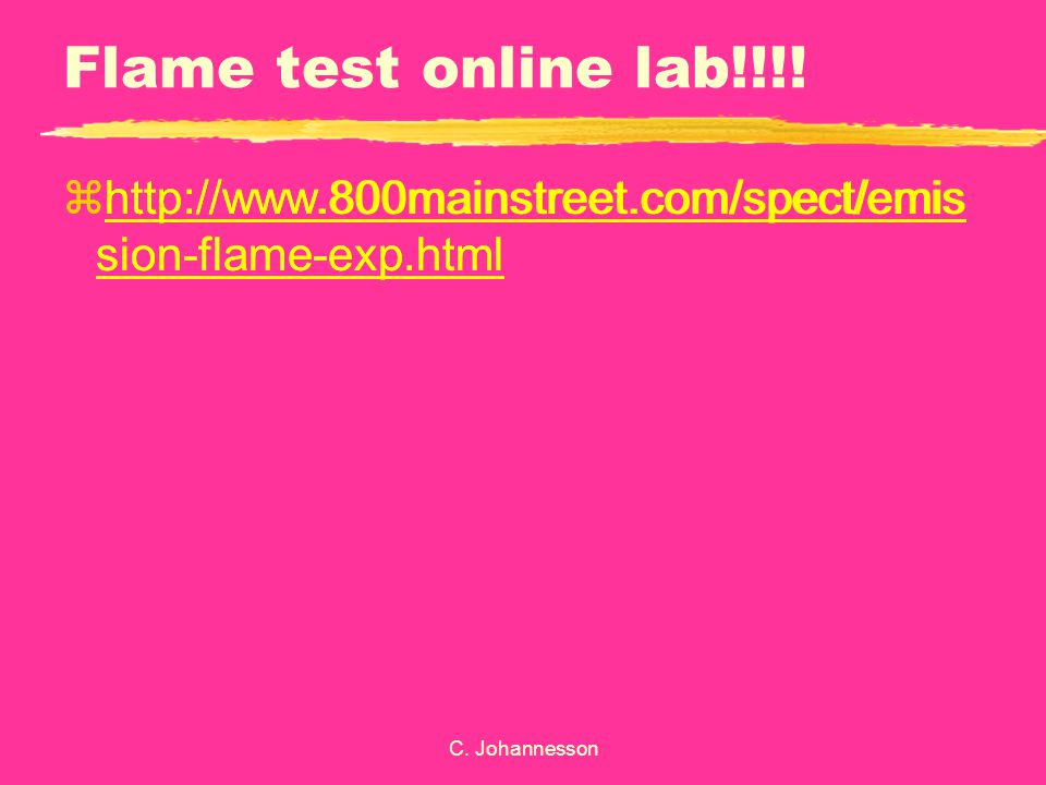 Flame test online lab!!!!