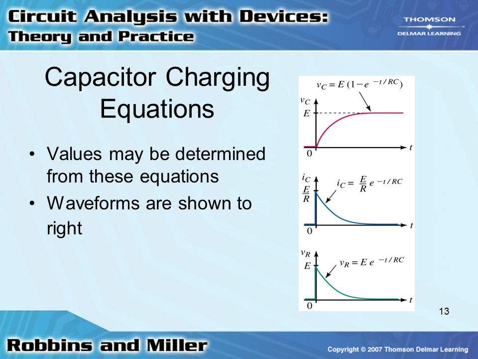 Capacitor Charging Equations