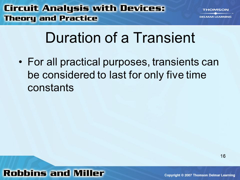 Duration of a Transient