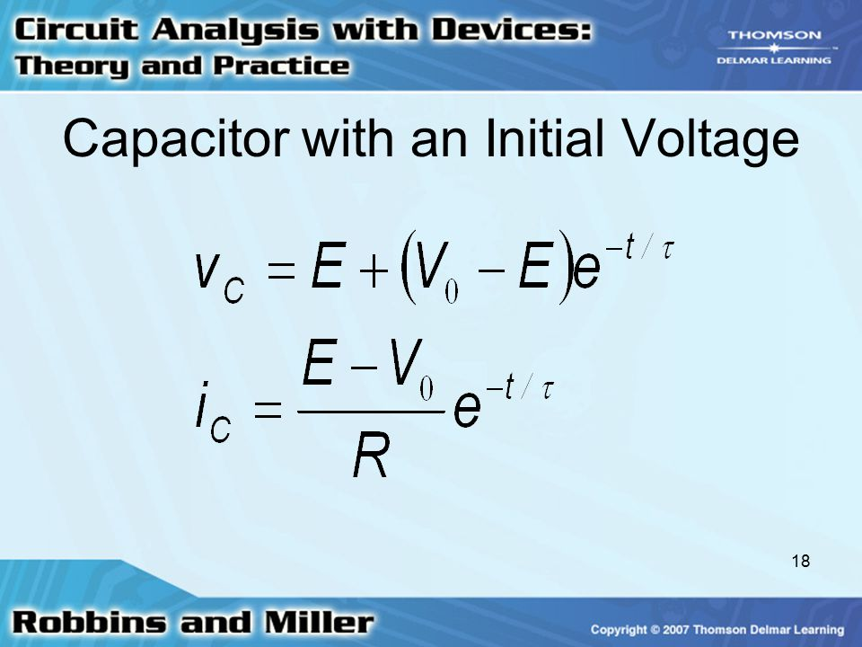 Capacitor with an Initial Voltage