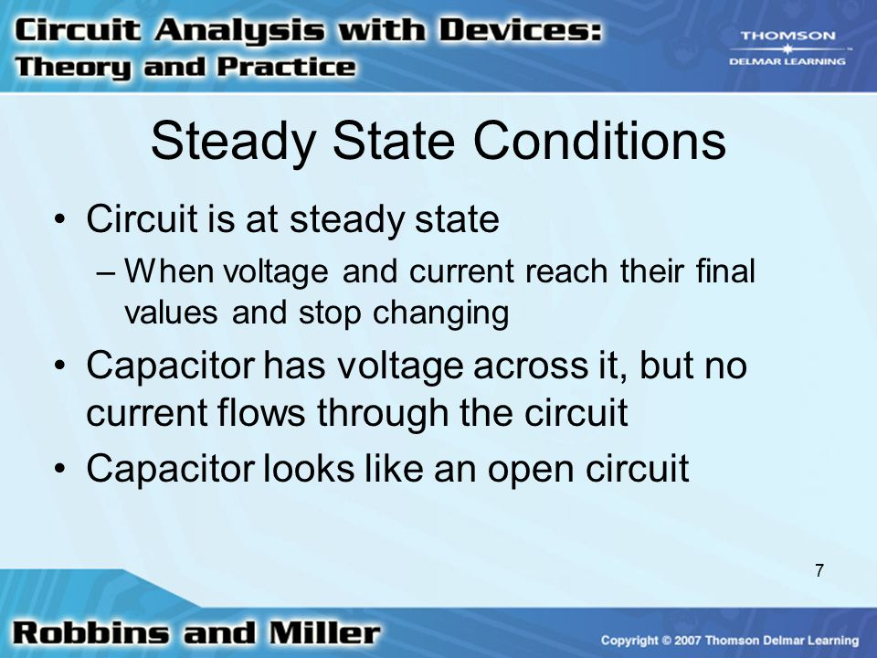 Steady State Conditions