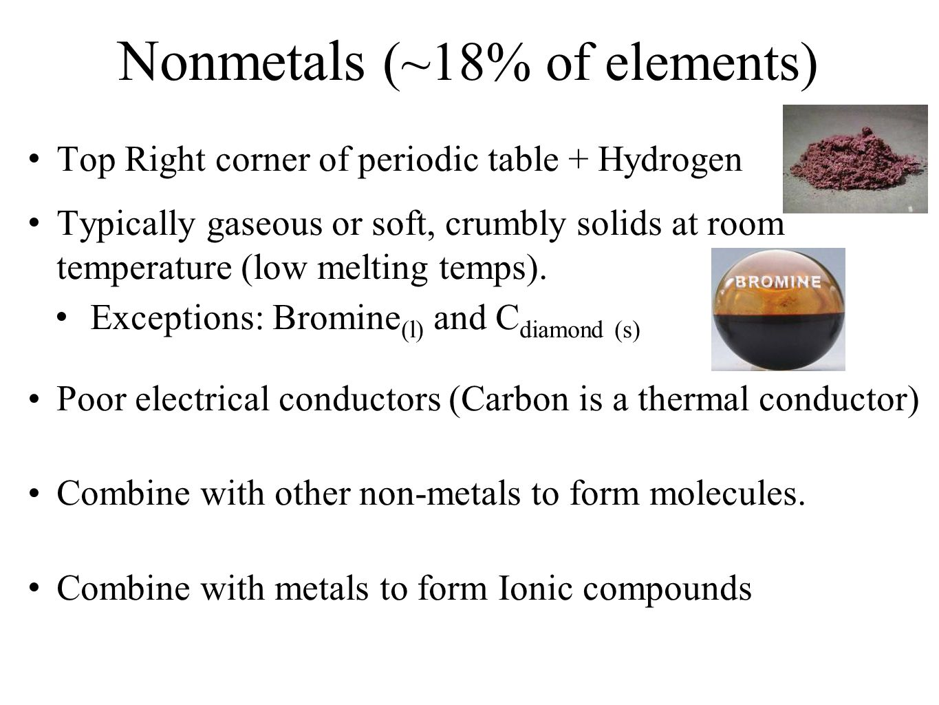 History and trends of the periodic table ppt video online download nonmetals 18 of elements gamestrikefo Image collections