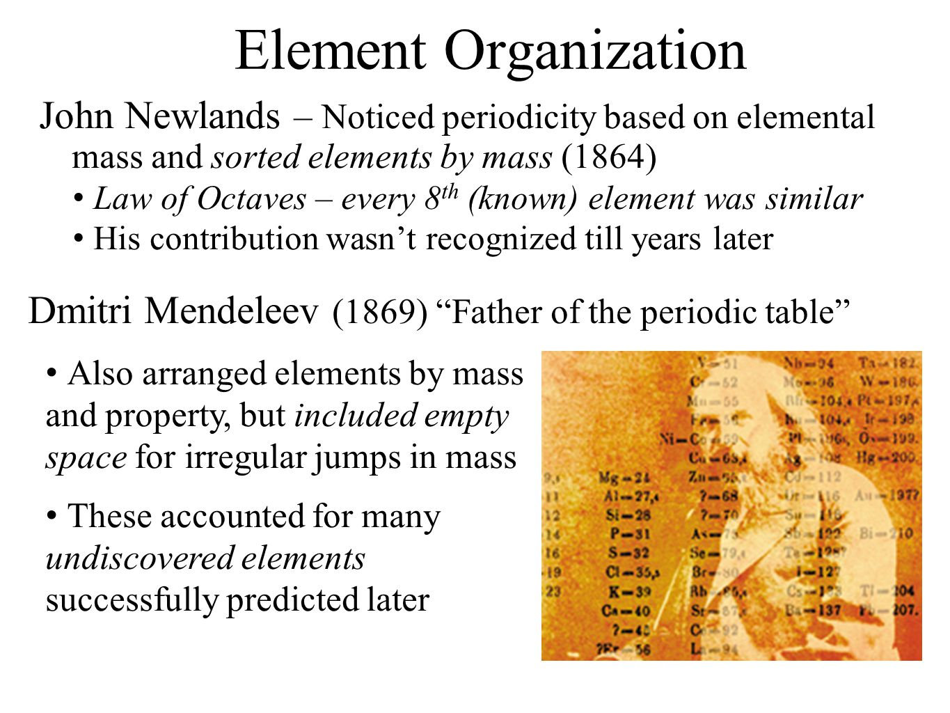 History and trends of the periodic table ppt video online download 3 element organization gamestrikefo Gallery