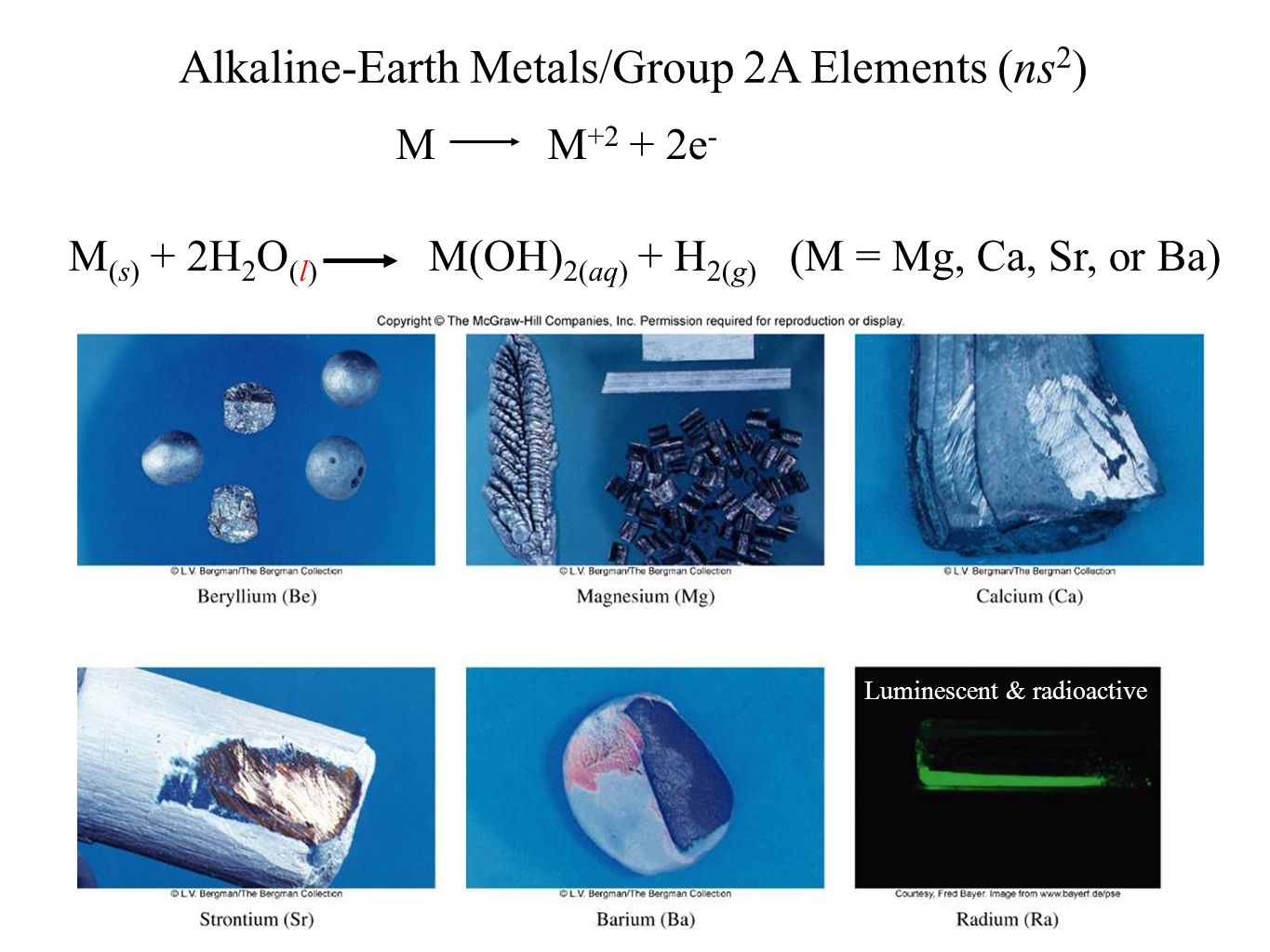 History and trends of the periodic table ppt video online download alkaline earth metalsgroup 2a elements ns2 gamestrikefo Gallery