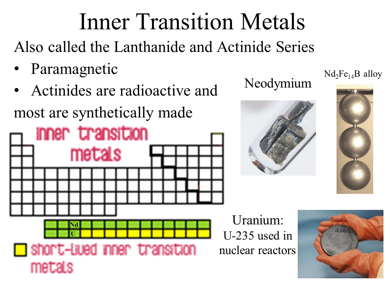 History and trends of the periodic table ppt video online download inner transition metals gamestrikefo Gallery