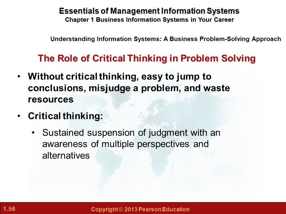 role of critical thinking in management Critical thinking is thinking logically and  what is the importance of critical thinking in  for you to do some critical thinking about critical.