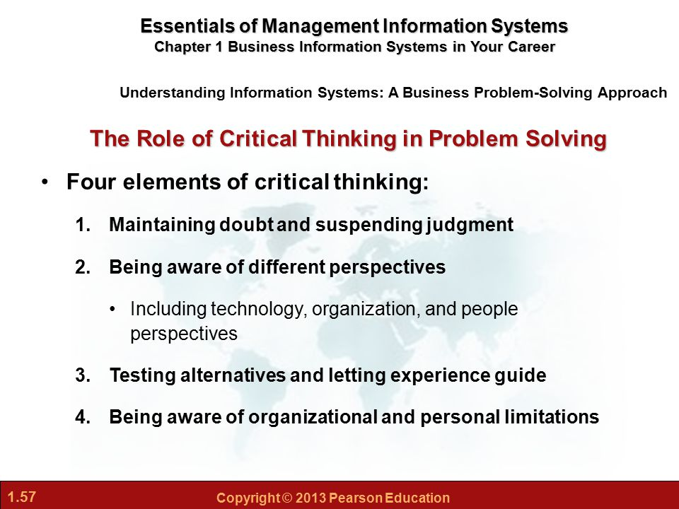 the importance of critical thinking in conflict management Leadership lessons: critical thinking skills the importance of critical thinking in they take a step back from the conflict and strategically assess the.
