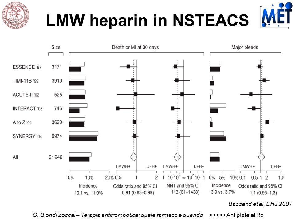 LMW heparin in NSTEACS Bassand et al, EHJ 2007