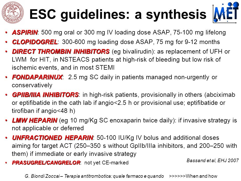 ESC guidelines: a synthesis