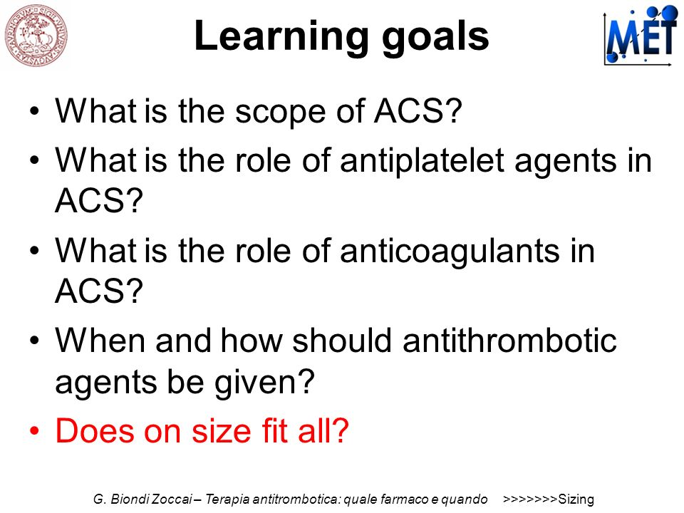 Learning goals What is the scope of ACS