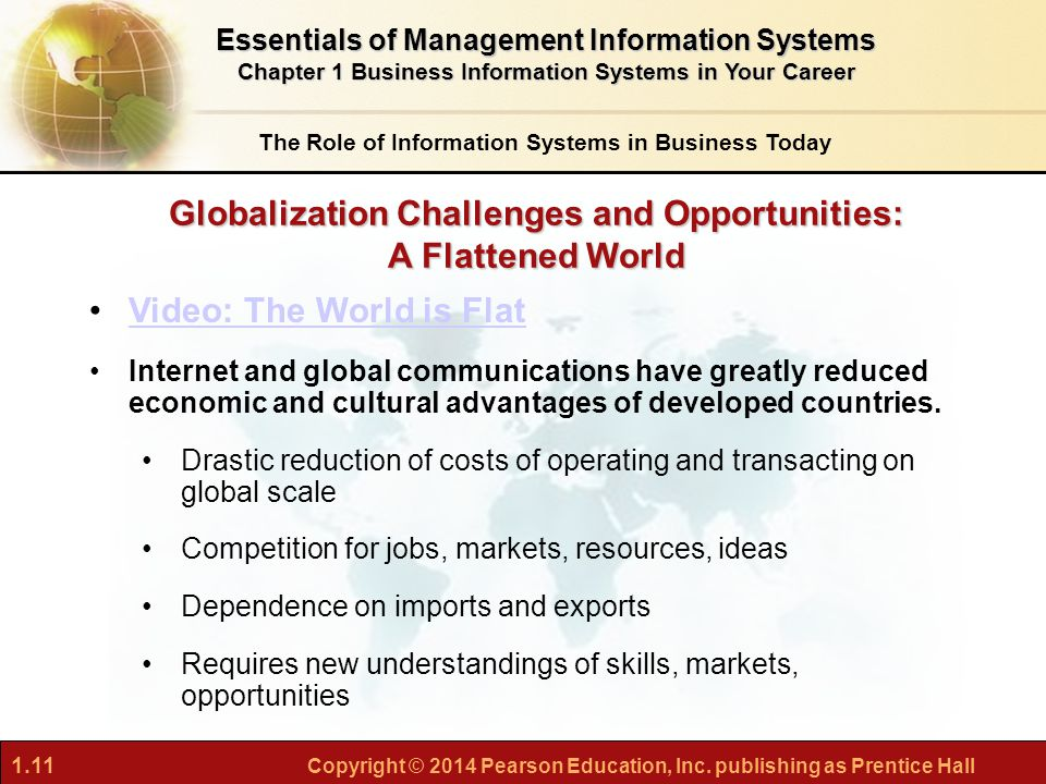 the challenges and opportunities of globalization in a flattened world Current challenges in management assess the evolution of globalization in the business world and the being mindful of the potential opportunities in a.