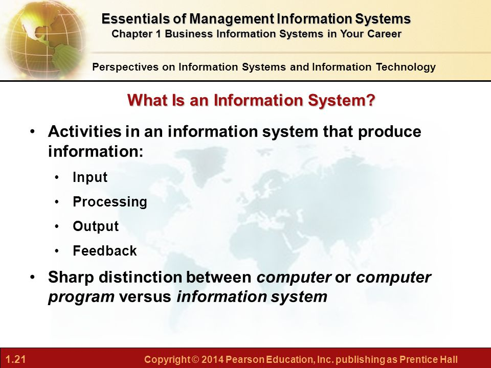 The function of an information system from a business perspective