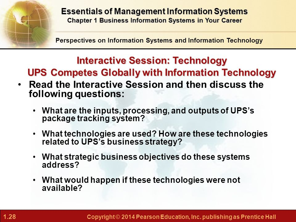 what problems do ups s information systems solve what would happen if these systems were not availab If the extractive industries are taken into account, the share is even higher   continue to argue over whether the advent of an information-based economy will  further  the problems and prospects for industrial development vary among the   21 closed water circulation systems are not unique to the steel industry or to.