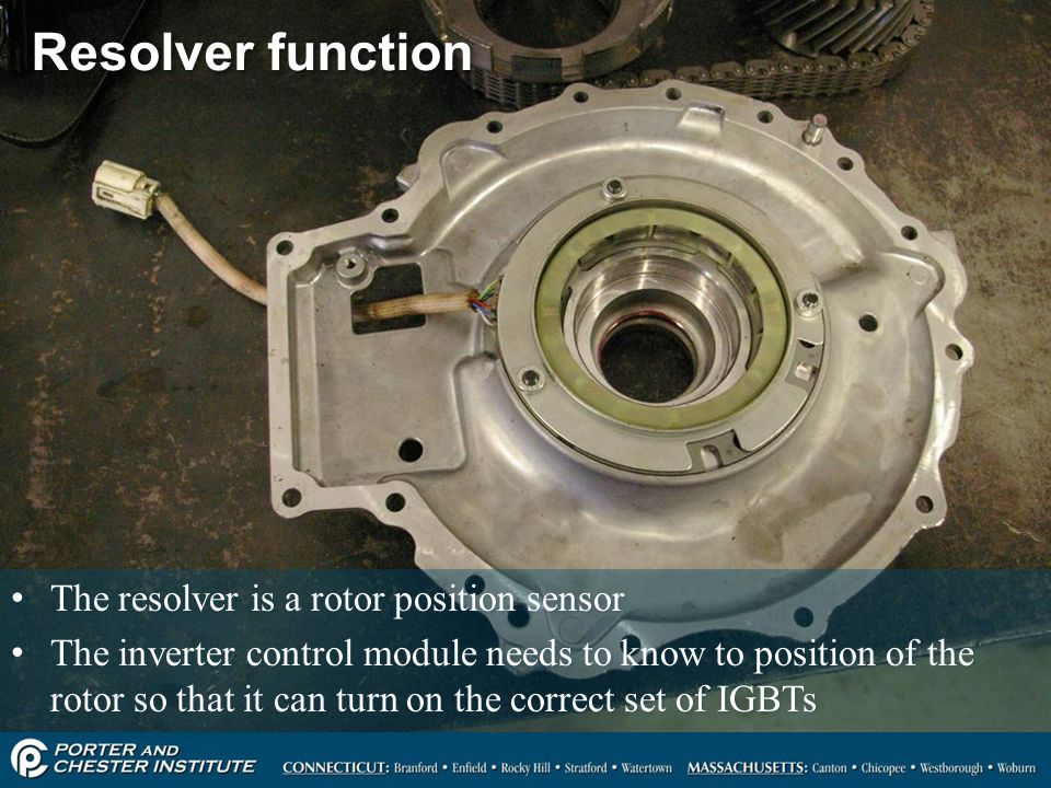 Resolver function The resolver is a rotor position sensor