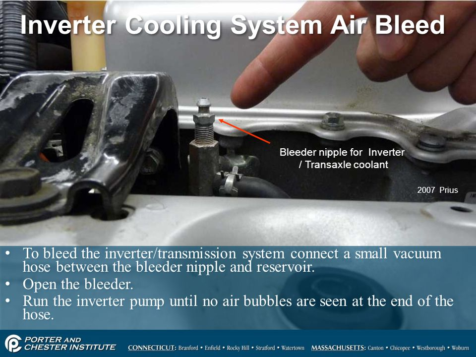 Inverter Cooling System Air Bleed