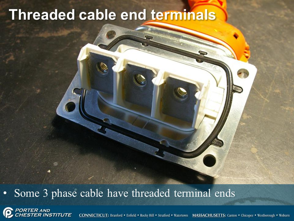 Threaded cable end terminals