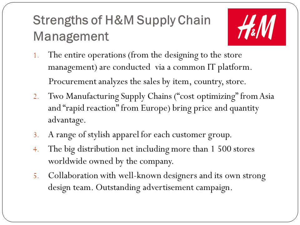h m distribution H & m delivers timely and accurate inventory management to maximize order pick rate and reduce inventory-carrying costs through our sophisticated mis capabilities, we provide real-time information between our customers and our database, which is provided through our state-of-the-art i-series e server mainframe.