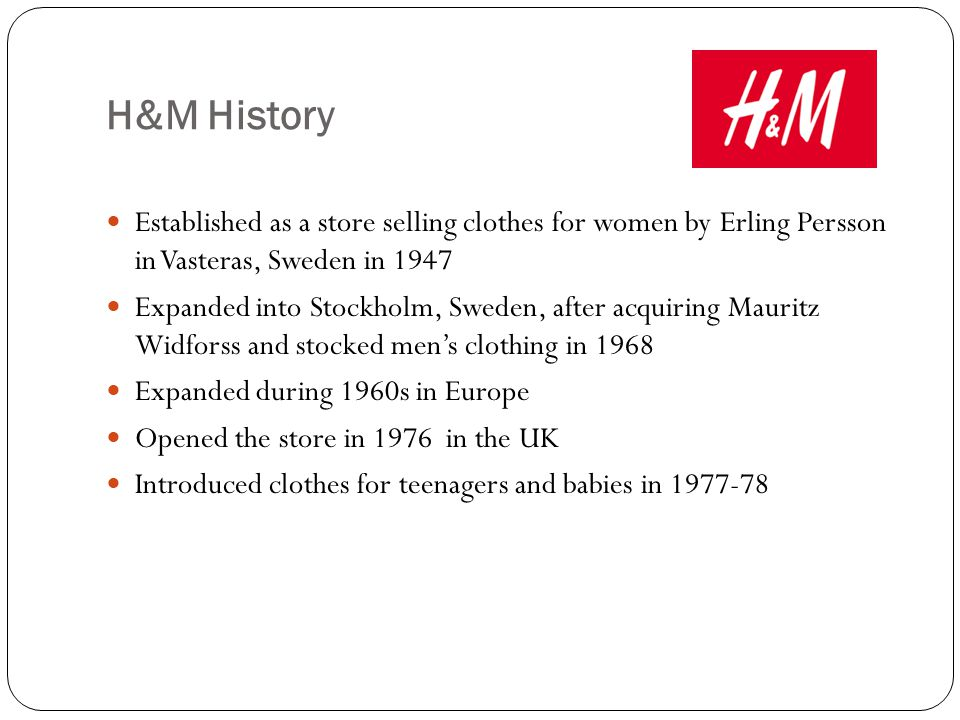 history of h m H&m - google+ press question mark to see available shortcut keys.