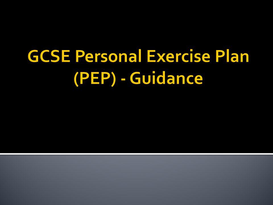 Gcse pep coursework example